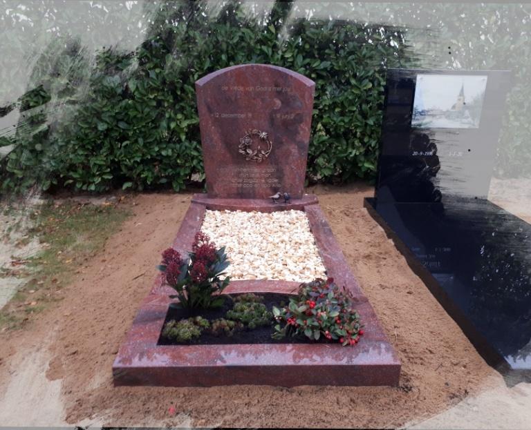 begraafplaats polsbroek romantica graniet