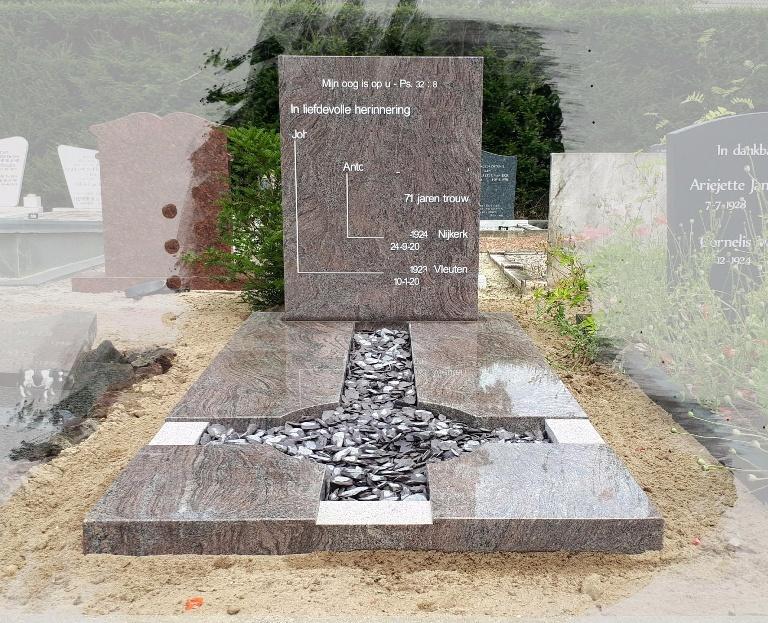 Grafsteen Paradiso graniet