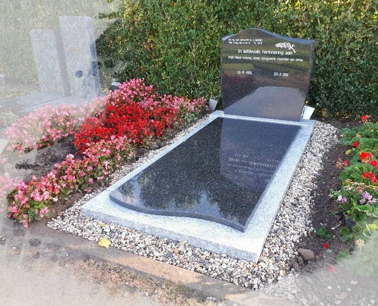 Grafsteen Impala met Viscount White graniet