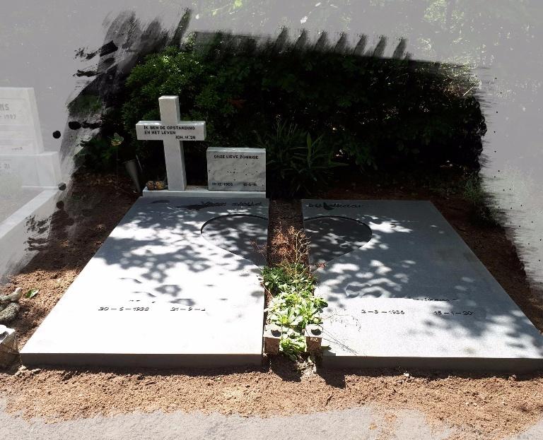 Grafstenen dubbelgraf
