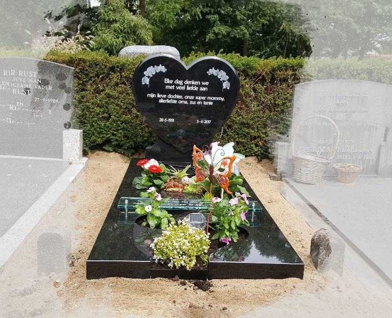 grafsteen hartvorm te Woerden