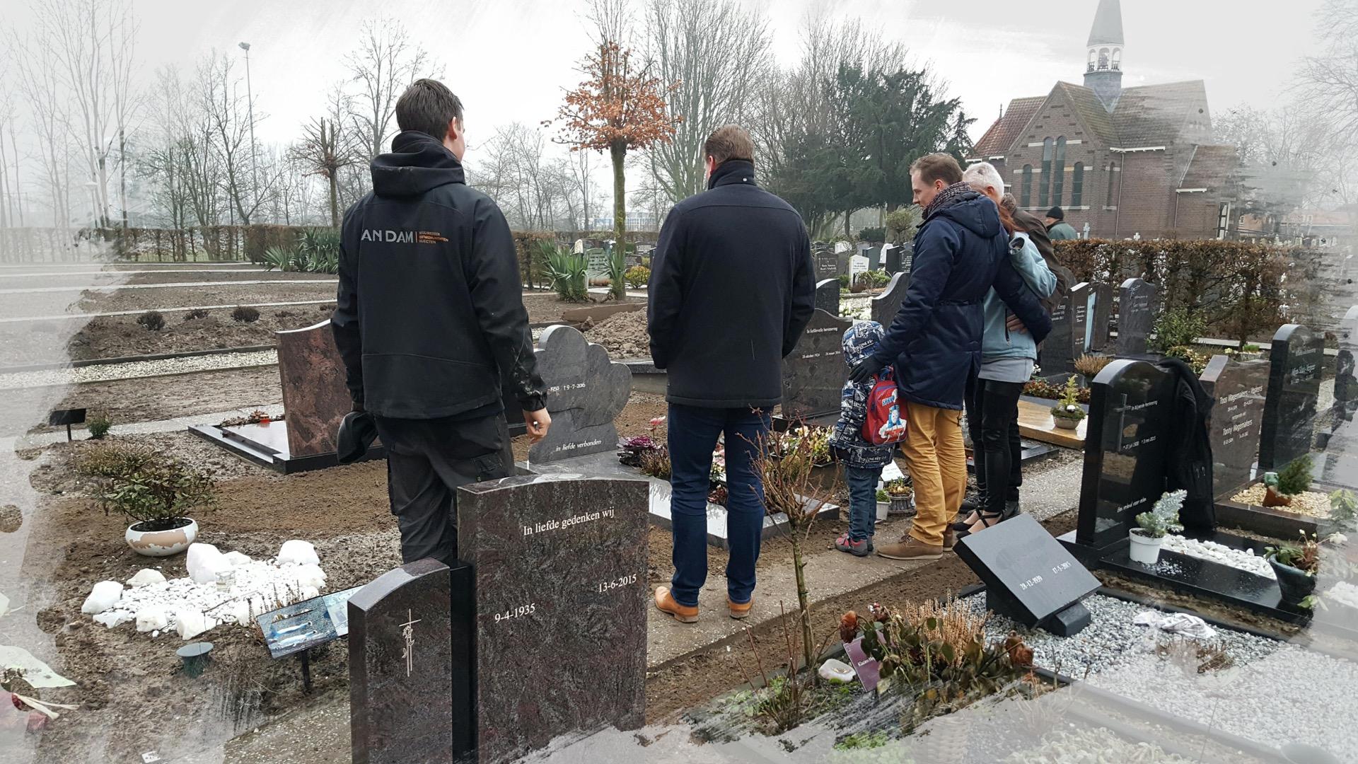 Grafstenen plaatsen