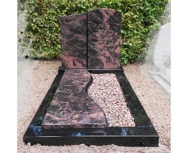 Grafsteen Aurora met zwart graniet te Nieuwegein