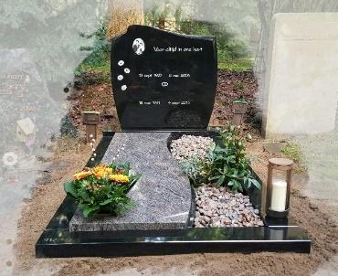 Grafsteen met bronzen lantaarn Zeist