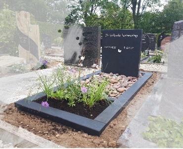 Grafsteen Mat zwart graniet