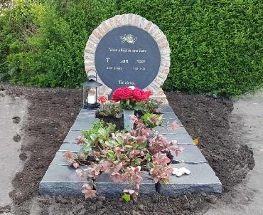 begraafplaats Nieuwkoop bij de rooms katholieke kerk