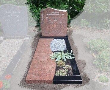 begraafplaats Waddinxveen Lieto red natuursteen