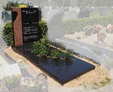 Grafsteen met speciaal plantvak Woerden