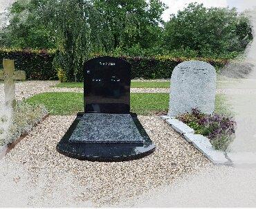 grafmonument met fraaie ronde voorkant
