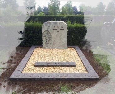 Grafsteen dubbelgraf