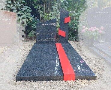 grafsteen gepoedercoat rvs baan te waddinxveen