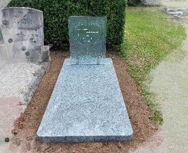 grafsteen glasplaat