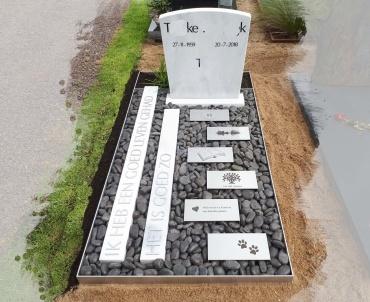 grafsteen Houten oud wulven