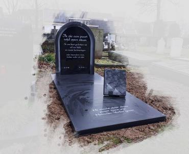 grafsteen in poort vorm