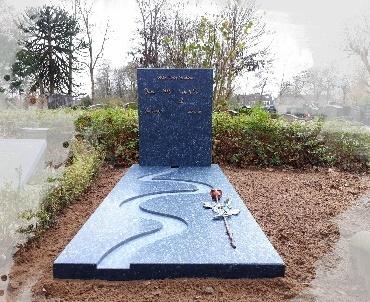 grafsteen labrador gezoet graniet Woerden