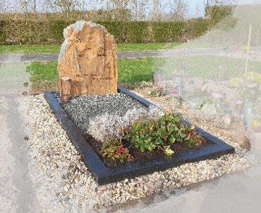 grafsteen leisteen met brons