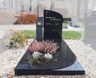 grafsteen met aluminium foto