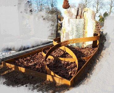 grafsteen met cortenstaal Oudewater