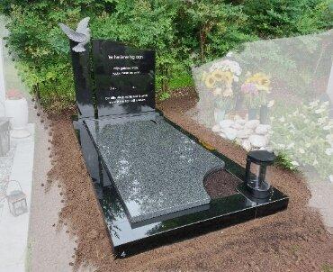 grafsteen met duif handgehakt utrecht