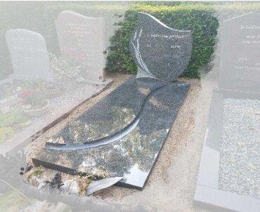 grafsteen met gravure