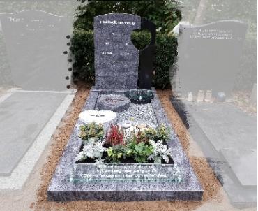 grafsteen met harten