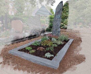 grafsteen met leisteen