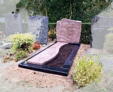 Grafsteen Rose Dalva graniet