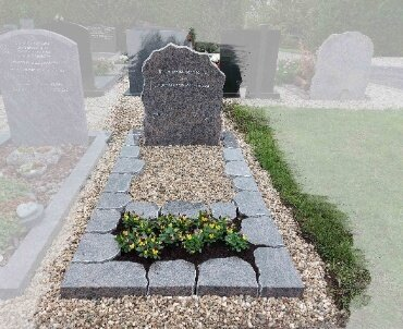 grafsteen ruw gekapt