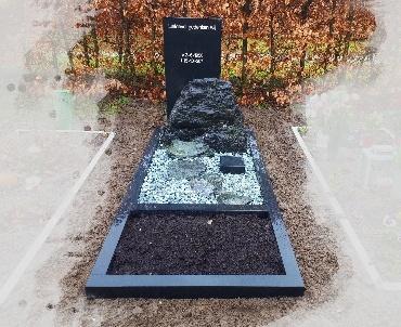grafsteen ruw met strak