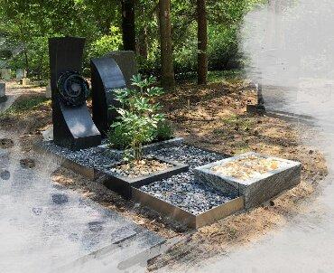 grafsteen speciaal glas en rvs