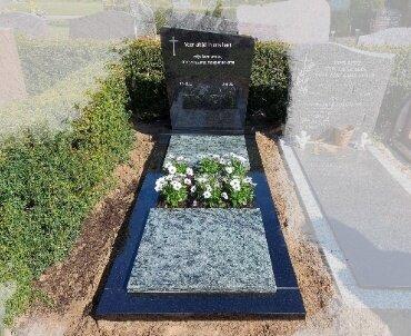 grafsteen twee kleuren graniet