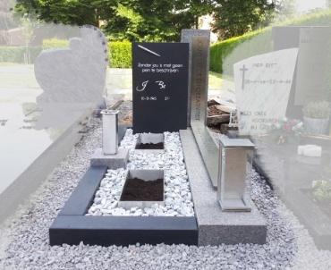 grafsteen Vleuten rk rvs gebrand natuursteen rvs pen