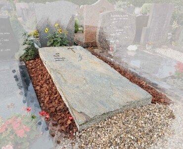 grafsteen zerk van leisteen