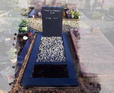 grafsteen zwart graniet gezoet