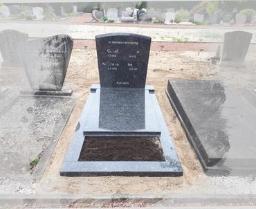 grafstenen steel grey graniet