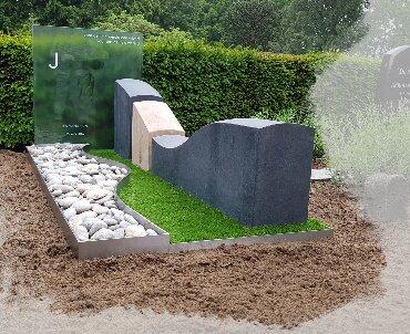 grafteen rvs met graniet hout en glas