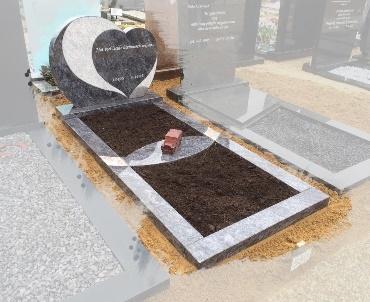 Grafstenen Hartmodel met