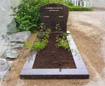 Grafsteen Tan Brown graniet