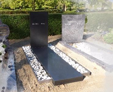 Zwart graniet gezoet met RvS