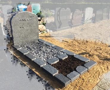 grafsteen met ruwgekapte zijkanten Oudewater