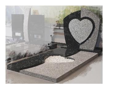 Grafsteen - hartmodel Houten
