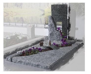 Granieten grafmonument met verschillende bewerkingen Geldermalsen