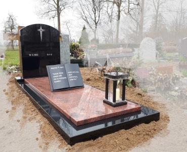 Grafsteen Woerden. romantica en absolute black. bijbel met tekst