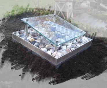 Grafstenen met Glasplaat met rvs omranding