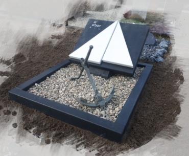 algemeen grafsteen met marmer
