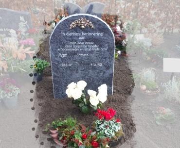 algemeen Grafsteen met brons