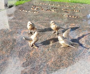 bronzen vogels