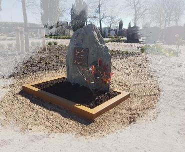 grafsteen Cortenstaal met ruw