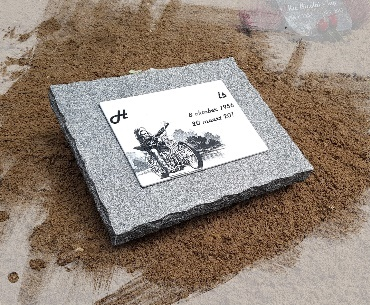 grafstenen algemeen graf Graniet met keramiek