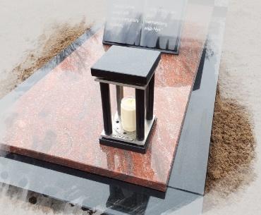 granieten lantaarn met rvs